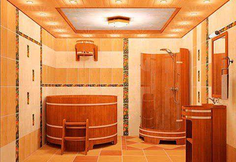 Внутрішня обробка мийки в лазні